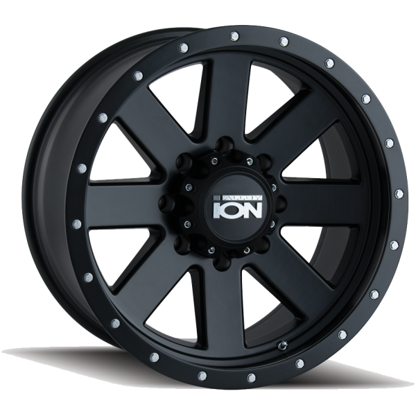 134-8136MB Ion Wheels 134 Series - Matte Black - Black BeadLock main image