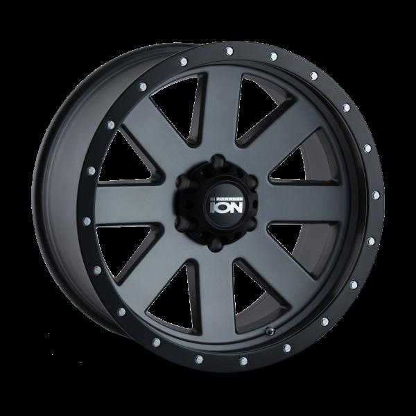 134-8181MG Ion Wheels 134 Series - Matte Gunmetal - Black BeadLock main image