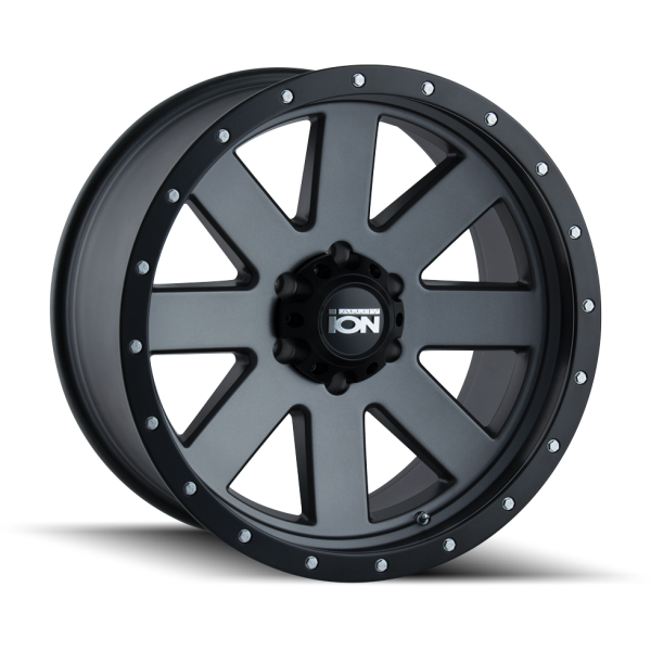 134-8978MG Ion Wheels 134 Series - Matte Gunmetal - Black BeadLock main image