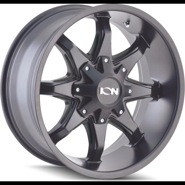 181-8956M12 Ion Wheels 181 Series - Satin Black - Milled spokes main image
