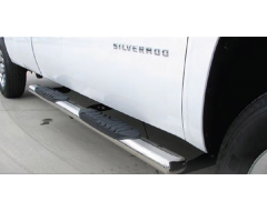 TopNotch 5 in. Oval Side Step Bars - Stainless Steel