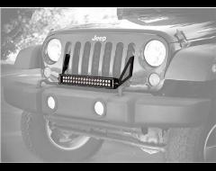 KC Hilites C20 20 in. Combo Beam LED Light Bar & Bracket For Jeep
