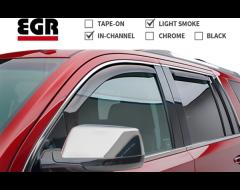 EGR SlimLine In-Channel Window Visors - Light Smoke