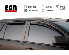 EGR SlimLine In-Channel Window Visors - Matte Black