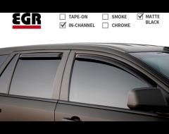 EGR SlimLine In-Channel Window Visors - Matte Black