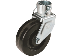 "Bulldog 6"" Detachable Caster with Pin for 2"" Diameter Jacks"