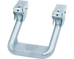 Carr Hoop II Truck Step - Powder Coated Titanium Silver