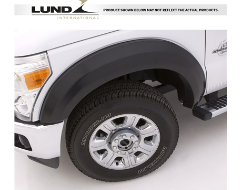 Lund EX-Extra Wide Style Fender Flares - Smooth Black