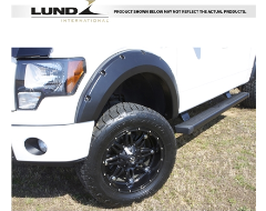 Lund RX-Rivet Style Fender Flares - Textured Black