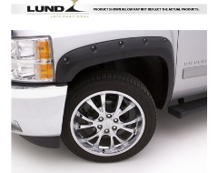 Lund RX-Rivet Style Fender Flares - Smooth Black