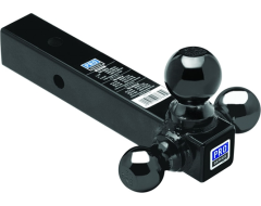 "Pro Series Tri-Ball Hollow Shank Ball Mount for 2"" Hitch"