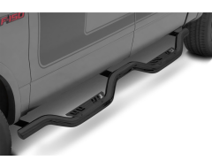 Lund Latitude Side Step Bars with Drop Steps - Black Powder Coated