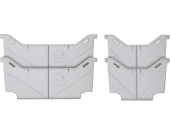 Decked Light Grey Drawer Dividers