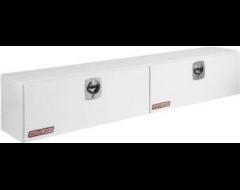 Weatherguard Hi-Side Mount Tool Box - Brite White Aluminum