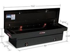 Weatherguard Crossover Tool Box - Textured Matte Black Aluminum