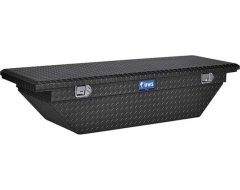 UWS Single-Lid Low-Profile Angled Crossover Tool Box - Black