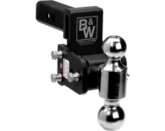 B & W Trailer Hitches Tow and Stow Adjustable Ball Mount