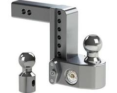 "Weigh Safe Drop Hitch Adjustable Ball Mount for 2"" Hitch"