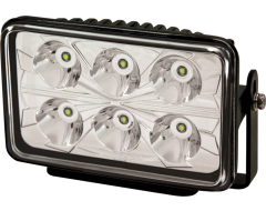 Ecco Rectangular LED Spot Beam Worklamp - Clear