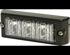 Ecco Rectangular LED Warning Light - Amber