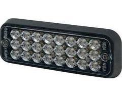 Ecco Rectangular LED Warning Light - Clear