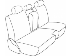 Northwest Ballistic Polypro 2nd Row Custom Fit Seat Covers