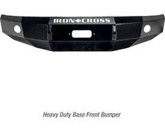 Iron Cross Heavy Duty Push Bar Front Bumper - Black Textured Powder Coated