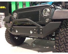 Iron Cross Jeep Front Bumper - Black Textured Powder Coated