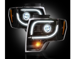 Recon Projector Headlight Set With Halo and DRL