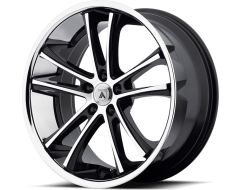 Asanti Wheels ABL-1 - Machined Black with Stainless Steel Lip