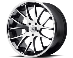 Asanti Wheels ABL-3 - Machined Face with Stainless Steel Lip