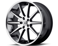Asanti Wheels ABL-4 - Machined Face with Stainless Steel Lip