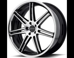 Lorenzo Wheels WL198 - Gloss Black Machined With Chrome Stainless Steel Lip