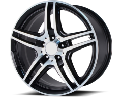 OE Creations Wheels PR136 - Gloss Black with Machined Spokes and Lip