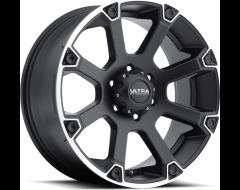 Ultra Wheels Spline 245 - Satin Black With Diamond Cut Accents