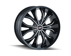 DIP HUSTLER Series Wheels - Gloss Black with Machined Face