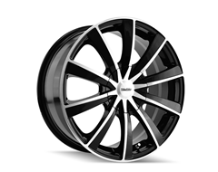 Touren TR10 Series Wheels - Black with Machined Face