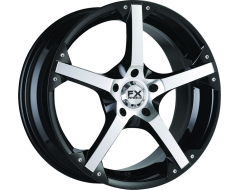 FX Wheels FX10 - Gloss Black With Machined Accents