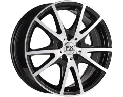FX Wheels FX11 - Gloss Black With Polished Accents