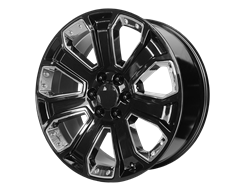 OE CREATION Wheels PR162 - Gloss Black with Chrome Accents