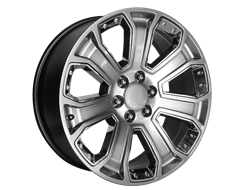 OE CREATION Wheels PR162 - Hyper Silver with Chrome Accents