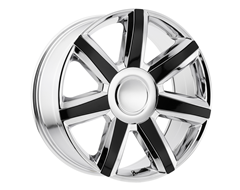 OE CREATION Wheels PR164 - Chrome with Black Accents