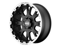 MOTO METAL Wheels MO956 - Matte Black with Machined Lip