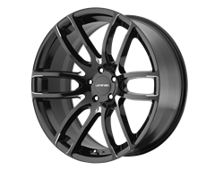 Lorenzo Wheels WL36 - Gloss Black with Milled Accents