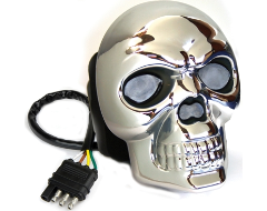 Highland Skull Lighted Hitch Cover