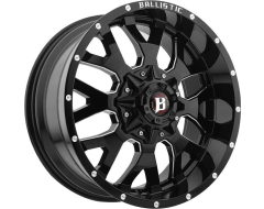 Ballistic Wheels 853 Tank Series - Painted - Milled accents