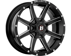 Ballistic Wheels 956 Razorback Series - Gloss painted - Milled accents