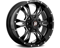 Ballistic Wheels 957 Mace Series - Gloss painted - Milled accents