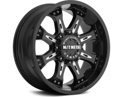 Mickey Thompson Wheels MM-164B - Gloss Black with Machined Accents