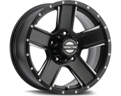 Mickey Thompson Wheels SD-5 BLACK - Satin Black with Diamond Cut Machined Highlights